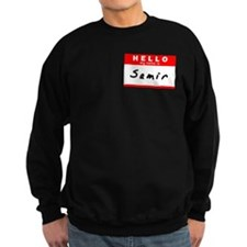 Samir, Name Tag Sticker Sweatshirt
