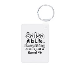 Salsa Is Life Designs Aluminum Photo Keychain