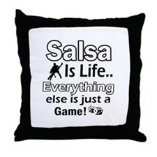 Salsa Is Life Designs Throw Pillow