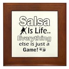 Salsa Is Life Designs Framed Tile