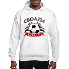 Croatia Soccer Designs Hoodie Sweatshirt
