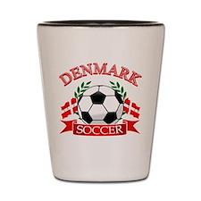 Denmark Soccer Designs Shot Glass