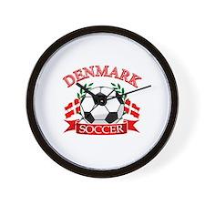 Denmark Soccer Designs Wall Clock