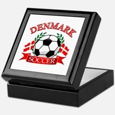 Denmark Soccer Designs Keepsake Box