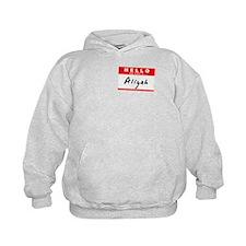 Aliyah, Name Tag Sticker Hoodie