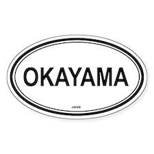 Okayama, Japan euro Oval Decal