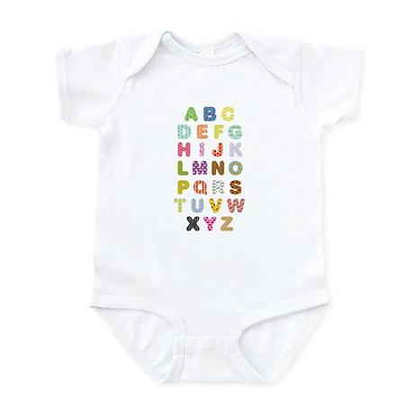 Ornamented Alphabet Infant Bodysuit