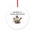 Winter Fun Ornament (Round)