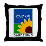Eye on Gardening TV Throw Pillow