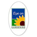 Eye on Gardening TV Oval Sticker