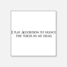 "Accordion copy.png Square Sticker 3"" x 3"""