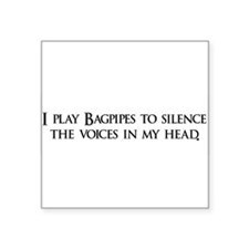 "Bagpipes copy.png Square Sticker 3"" x 3"""