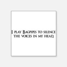 """Bagpipes copy.png Square Sticker 3"""" x 3"""""""