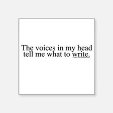 """voicesinmyhead.png Square Sticker 3"""" x 3"""""""
