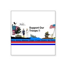"Support_Our_Troops Square Sticker 3"" x 3"""