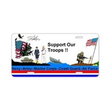Support_Our_Troops Aluminum License Plate