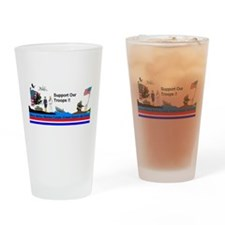 Support_Our_Troops Drinking Glass
