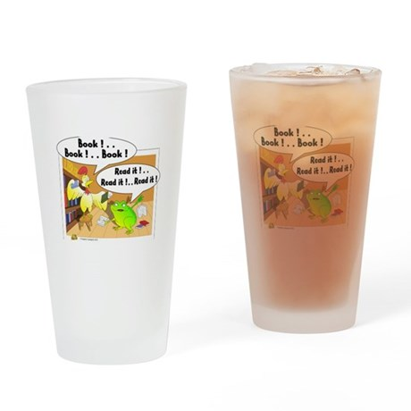 chicken and frog Drinking Glass