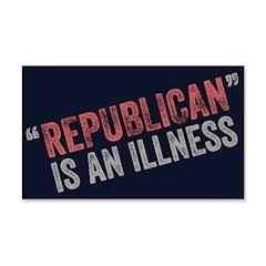 Republican Illness 22x14 Wall Peel