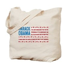 Support Marriage Tote Bag