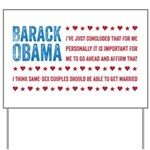Support Marriage Yard Sign