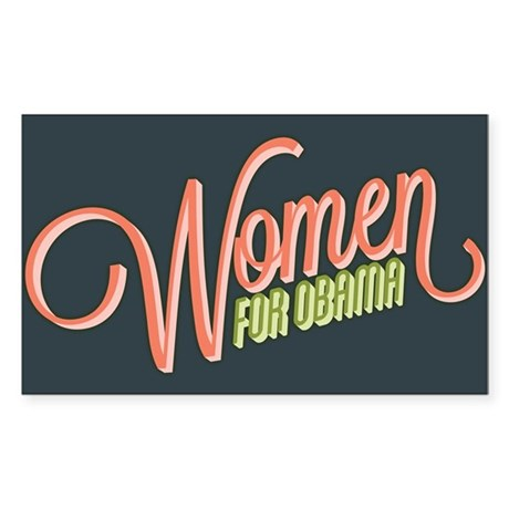 Women For Obama Sticker (Rectangle)