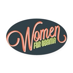 Women For Obama Oval Car Magnet