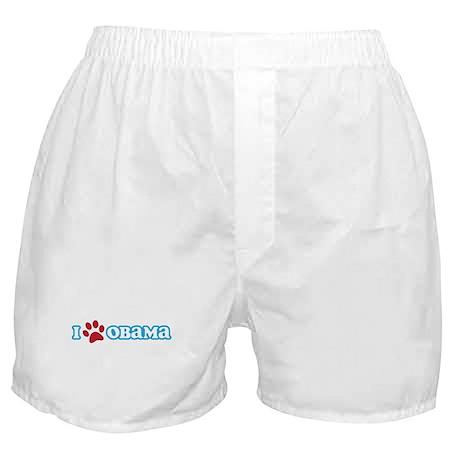 I Pawprint Obama Boxer Shorts