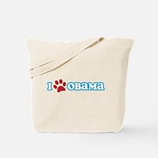 I Pawprint Obama Tote Bag