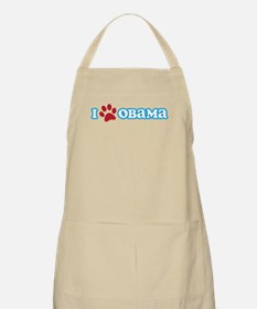 I Pawprint Obama Apron
