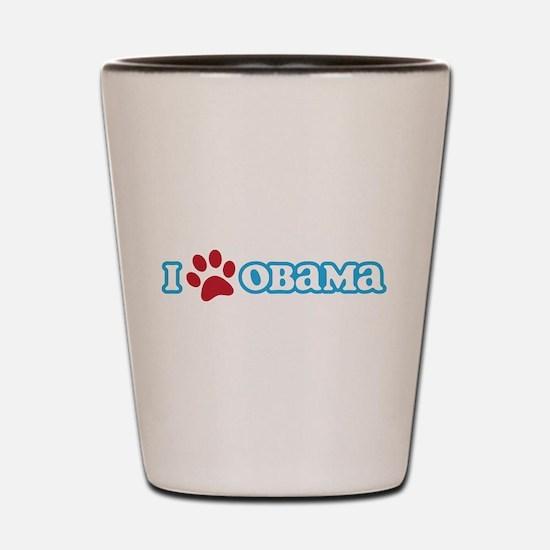 I Pawprint Obama Shot Glass