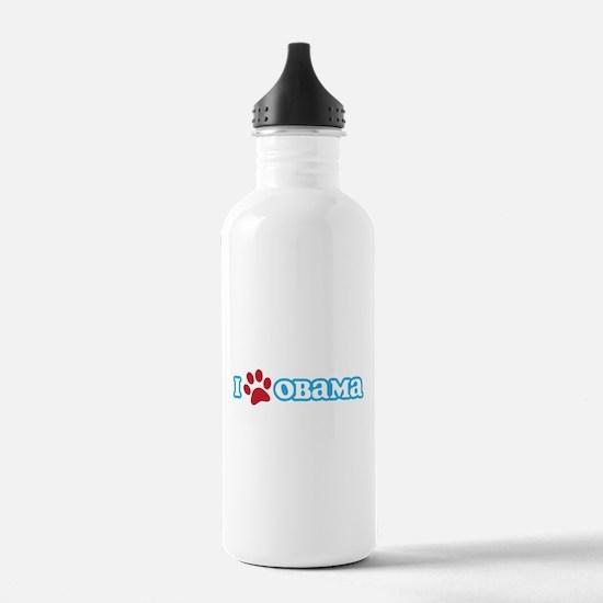 I Pawprint Obama Water Bottle