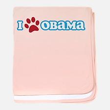 I Pawprint Obama baby blanket