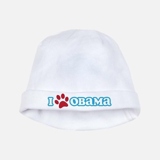 I Pawprint Obama baby hat