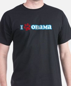 I Pawprint Obama T-Shirt