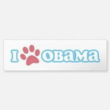 I Pawprint Obama Bumper Bumper Sticker