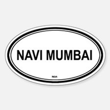 Navi Mumbai, India euro Oval Decal