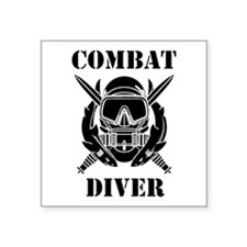 "Combat Diver (3) Square Sticker 3"" x 3"""