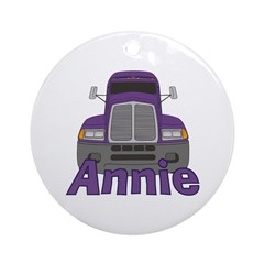Trucker Annie Ornament (Round)