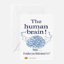 The human brain Greeting Card