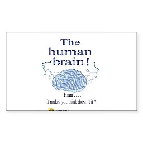 The human brain Sticker (Rectangle)