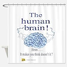 The human brain Shower Curtain