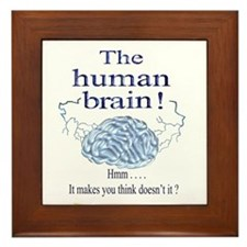 The human brain Framed Tile