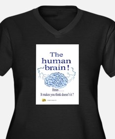 The human brain Women's Plus Size V-Neck Dark T-Sh