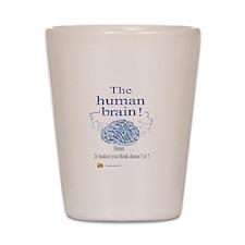 The human brain Shot Glass