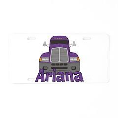 Trucker Ariana Aluminum License Plate