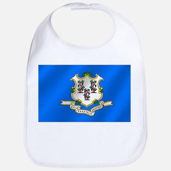 Connecticut State Flag Bib