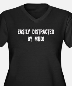 Easily Distracted By Mud Women's Plus Size V-Neck