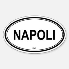 Napoli, Italy euro Oval Decal