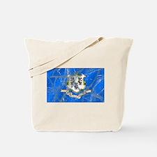 Vintage Connecticut Flag Tote Bag